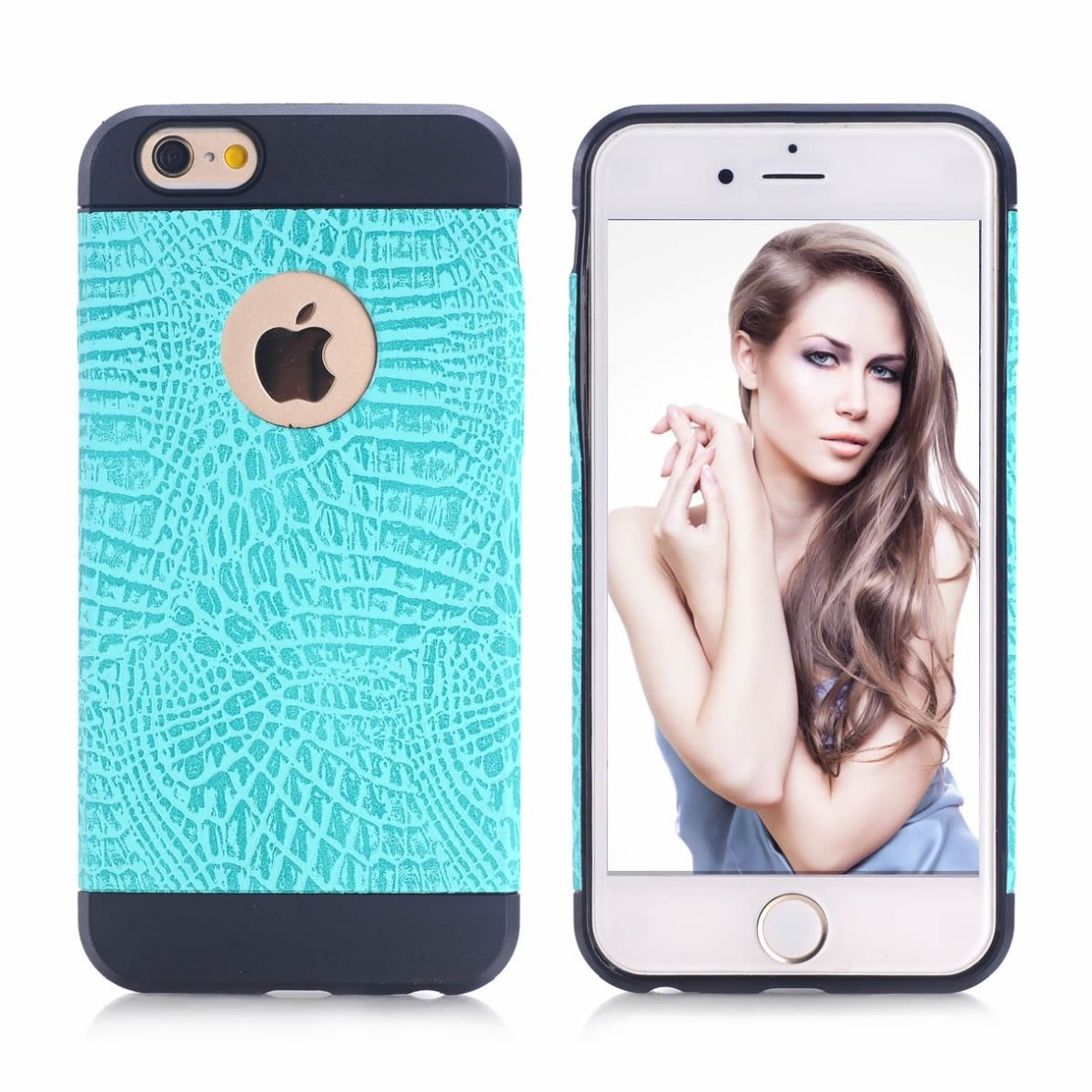 iPhone 6 case - YAKAON iPhone 6 (4.7inch) Crocodile Pattern Protective Case, TPU Silicone Case, Protective Skin Cover Case for iPhone 6 4.7 inch blue