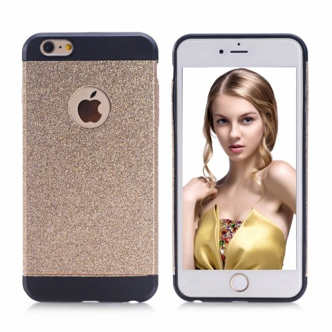 iPhone 6 Case, YAKAON High Quality Luxury Hybrid TPU Shiny Bling Sparkling with Crystal Rhinestone Cover Case for iPhone 6(4.7inch) with Multi-color gold