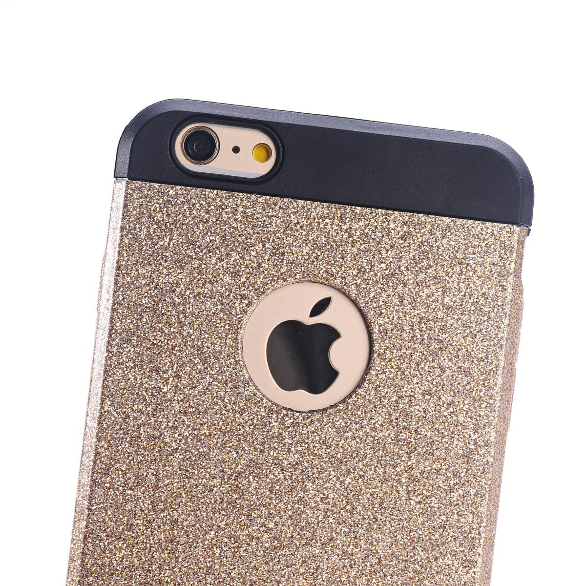 iPhone 6 Case, YAKAON High Quality Luxury Hybrid TPU Shiny Bling Sparkling with Crystal Rhinestone Cover Case for iPhone 6(4.7inch) with Multi-color gold 3